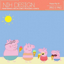 Kit Imprimible Pack Fondos Peppa Pig 10 Clipart