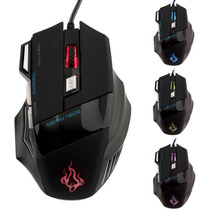 Mouse Gamer Alámbrico Óptico 5500 Dpi Usb Led