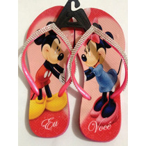 Chinelo Havaianas Personalizado - Mickey Minnie Strass