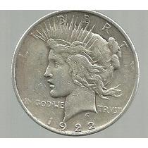Peace 1 Dolar Plata 1922 D
