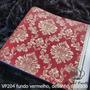 VP204 fundo vermelho, desenho dourado