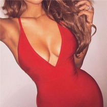 Vestido Rojo Sexi De Noche O Dia Boda Xv Bautiz Envio Gratis