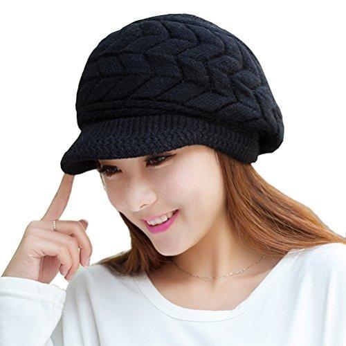 Hindawi Mujeres Invierno Caliente Hat Gorras De Lana De Lan -   36.599 en  Mercado Libre 8132753ba98
