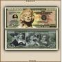 Billete Conmemorativo Marilyn Monroe, 1 Millo De Dolares.