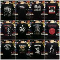 Kit 100 Camisetas De Bandas De Rock Revenda Catarina Atacado