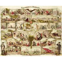 Lienzo Tela Centenario Estados Unidos 1876 50 X 62 Cm Poster