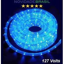 Mangueira Led Azul 127v Por Metro Para Sanca Ou Natal
