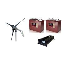 Planta De Energia Eolica 400w 12v Con Baterias E Inversor.