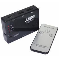 Switch Hdmi Tv Dvd Full Hd 3 Entradas 1 Salida Control Remot