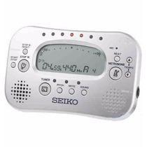 Afinador Eletrônico Cromático E Metrônomo Seiko Sth100 Prata