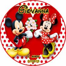 48 Rotulo Latinha Adesivo Aniversário Mickey Personalizado