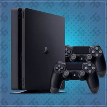Playstation 4 Slim Sony 500gb Ps4 Cuh-2015a + 2 Controles
