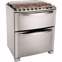 Cocina Electrolux 76dtx Doble Horno Inox Multigas Lhconfort