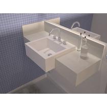 Lavatório Quartzo Branco Absoluto - (igual Silestone)