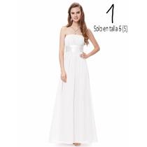 V1217 Vestido Formal Blanco, Vestidos Para Novia