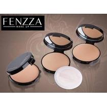 Pó Facial Compacto Prático Fenzza C/ Estojo Espelho Esponja
