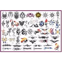 Set De Stencils Plantillas Para Tatuaje Temporal Aerografo