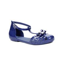 Sandália Rasteira Feminina Zaxy Azul Marinho