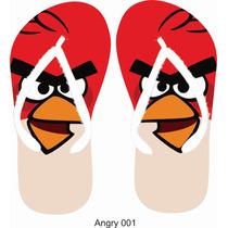 Kit 10 Chinelos Personalizado Lembrancinha Angry Birds