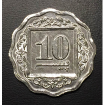Pak002 Moneda Pakistán 10 Paisa 1984 Unc-bu Ayff