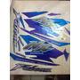 Adesivo Moto Falcon Jogo Azul 2000 Completa