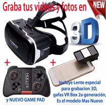 Lentes Realidad Virtual, Graba Tus Videos Y Fotos En 3 D, Vr