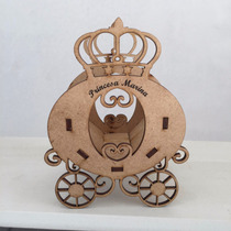 Carruagem Princesa Mdf Coroa Com Nome - Cachepô