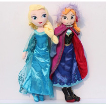 Anna Y Elsa Frozen Envío Gratis! Muñeca Peluche 40cm Niña