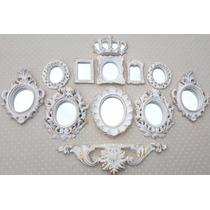 Kit 11 Molduras Ouro Provençal Já Com Espelhos Decorativos