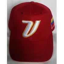 Gorra Venezuela Flex Vino Tinto Clasico Mundial De Beisbol.