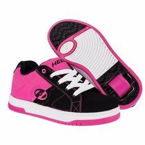 Patines Tenis Rosa Para Niña Heelys Con Detalle Y Sin Caja
