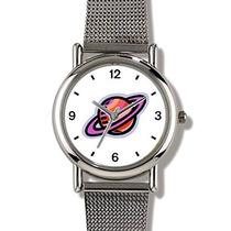 Saturno Y Sus Anillos - Watchbuddy Elite Cromado Reloj Del