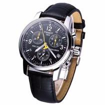Relógio Masculino Prata Tissot Preto Prc 200 1853 Social 12x