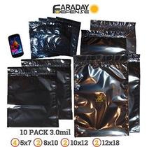 (10) Jaula De Faraday Emp / Esd Bolsas Completa 10pc Kit Gra