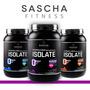 Proteina Sascha Fitness - Chocolate, Vainilla, M.maní, Fresa