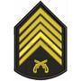Bordado Termocolante-militar- Divisa 1º Sargento Pm 7,5x10,5