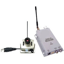 Mini Camera Prata 1208sf S/ Fio Wireless + Receptor + Fontes