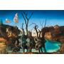 Dali Painel Foto 90x131cm Obra Cisnes Refletindo Elefantes
