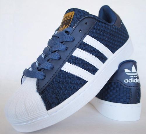 brand new 09df5 614fb zapatillas superstar hombre azul weave
