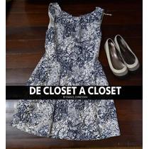 Lote Zara Vestido Coctel Flores Y Flats Rayas Moda Hermoso