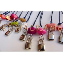 10 Dijes Cinta Collar 15 Años Piedra Souvenirs Cumpleaños