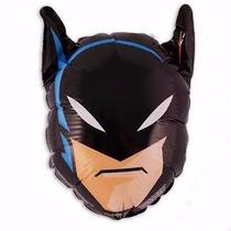 50 Balão Metalizado Batman Cabeça 49cm Festa Gás Hélio Niver
