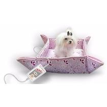 Cama Térmica 0,35 X 0,35 220v Modelo Cães E Gatos Pet Rosa