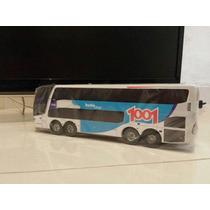 Miniatura De Ônibus G7 Dd Da 1001 Em Madeira