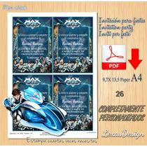 Invitacion Digital Imprimible Max Steel Cumpleaños