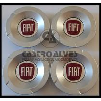 Kit 4 Pçs Calota Tampa Centro Roda Fiat Stilo Abarth Aro 17