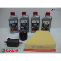 Kit Troca Oleo Castrol 5w40+filtros Fox Polo Space 1.6 Flex