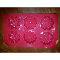 Molde Silicona P/6 Cupcakes Flores Varias X 1 Unidad