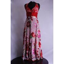 Vestido Rojo Fiesta Flores