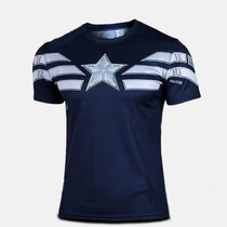 Playera Deportiva De Capitan America As